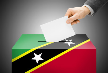 Ballot box as national flag - Saint Kitts and Nevis