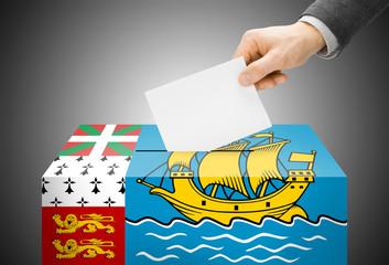 Ballot box as national flag - Saint-Pierre and Miquelon