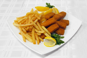 Fried fish sticks