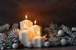 Leinwanddruck Bild - Weihnachtsdekoration