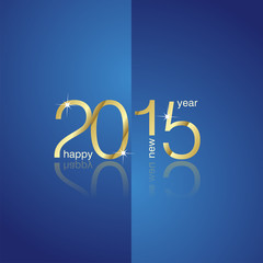Gold 2015 front back blue background vector