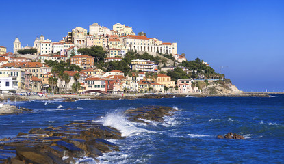 the beautiful Ligurian town of Porto Maurizio,Imperia, Italy