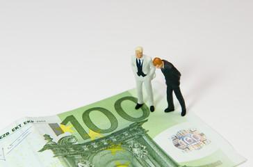 2 Hommes sur un billet de 100 euros
