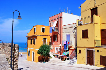the old town of termoli, molise, italy