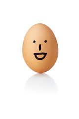 Egg, big smile