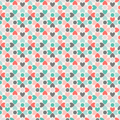 Floral vector seamless pattern. Red, green, black and white