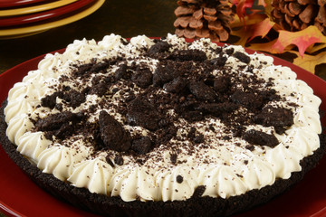 Cookies and cream pie
