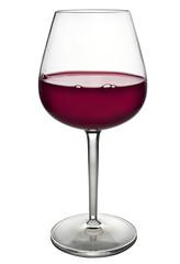 bicchiere con vino rosso