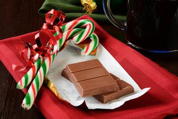 Christmas chocolate and coffee