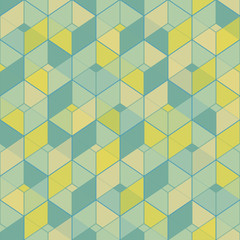 Geometric seamless pattern in vintage colors