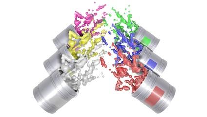 Colours  spilled paint
