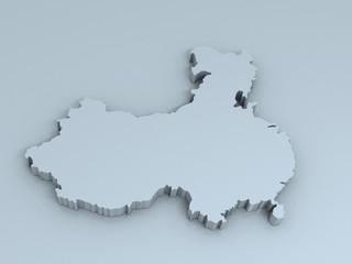 china 3D map