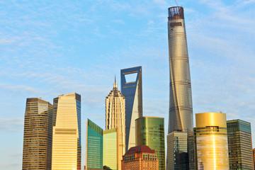Beautiful Shanghai cityscape at dusk