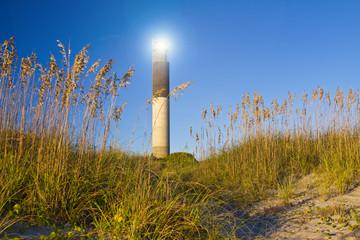 Oak Island Southport North Carolina Lighthouse through the Cassw