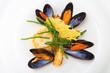 Leinwanddruck Bild - Blue mussels
