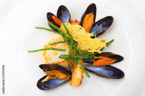 Leinwanddruck Bild Blue mussels