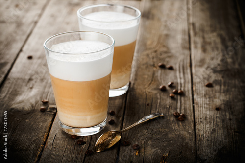 Two glasses of latte - 73071565