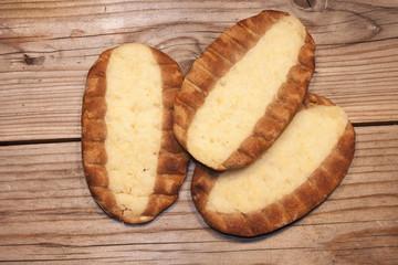 Three karelian pastys