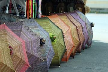 Umbrella made of fabric folk Thailand.