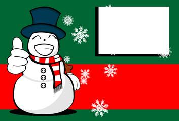 snow man cartoon xmas background card04