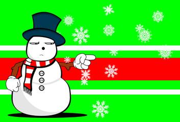 snow man cartoon xmas background card01