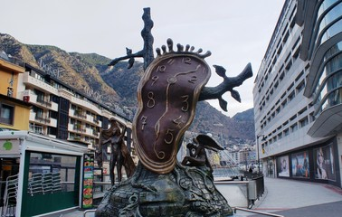 Watch of Dali, Andorra. Nice famouse monument.