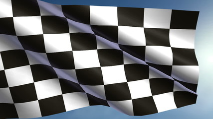Close up of high detailed checkered flag