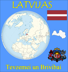 Latvia location emblem motto