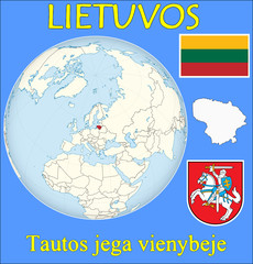 Lithuania location emblem motto