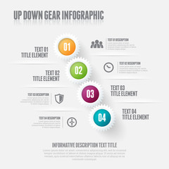 Up Down Gear Infographic