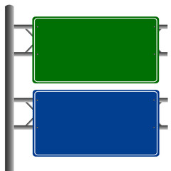 Road signs blank isolated vector