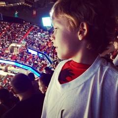 boy enjoying basketball game