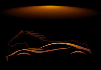 Yarış atı ve otomobil