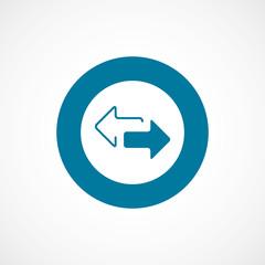 arrow bold blue border circle icon.
