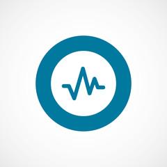 pulse bold blue border circle icon.