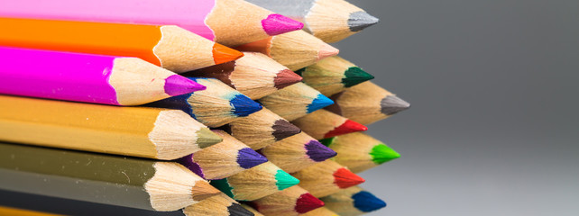 Colour pencils isolated  background