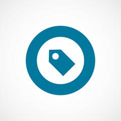 tag bold blue border circle icon.