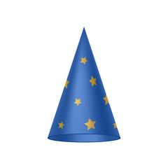 Blue sorcerer hat with golden stars