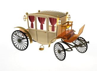 Decorative vintage carriage