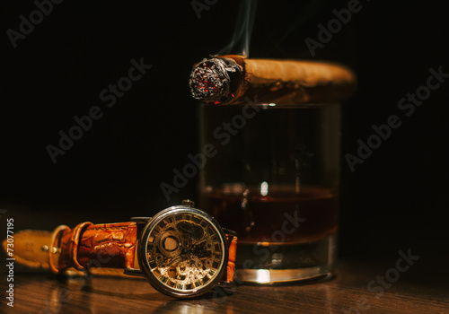 Foto op Plexiglas Alcohol Luxury still life