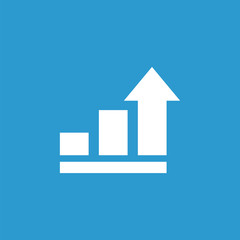 business diagram, chart icon, white on the blue background .