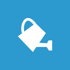 watering can icon, white on the blue background .