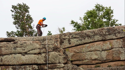 Man Trains to Conquer the Rock