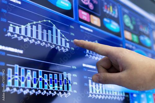 Leinwandbild Motiv clicking and analysis  business financial report
