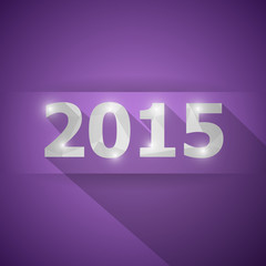 2015 with abstract triangle violet background
