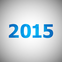 2015 with abstract triangle background