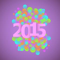 Celebration 2015 concept on violet background