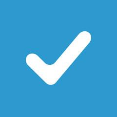 ok icon, white on the blue background .