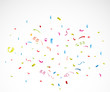 Colorful confetti on white background - 73078912