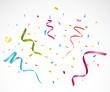 Colorful confetti on white background - 73078914